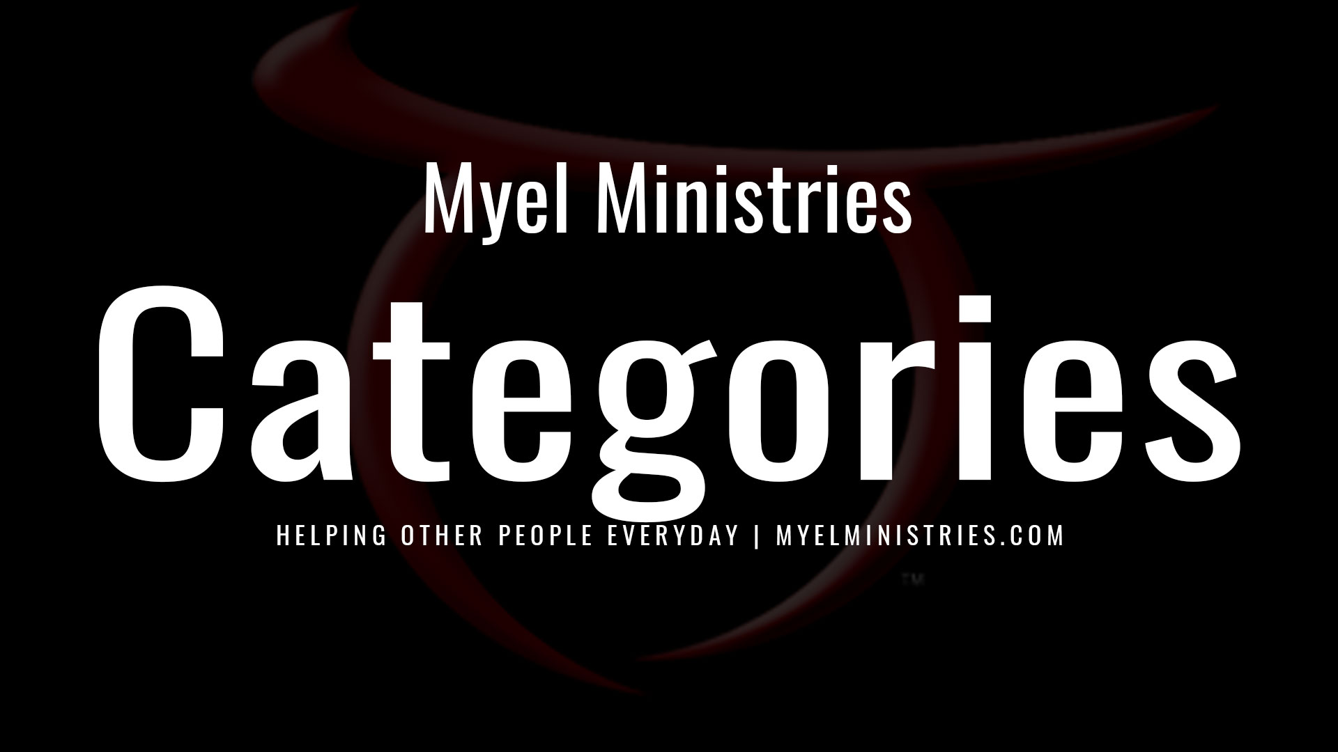 image for Ministry Categories